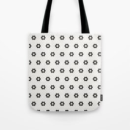 Tiles of Penang - Black and white Tote Bag