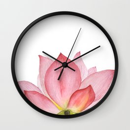 Pink lotus #2 Wall Clock