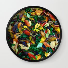 autumn leaves 2 Wall Clock