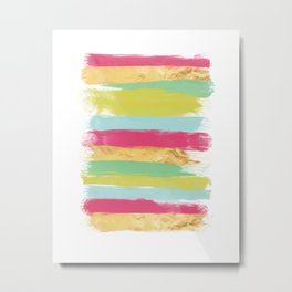 Modern Abstract Paint Smears Metal Print