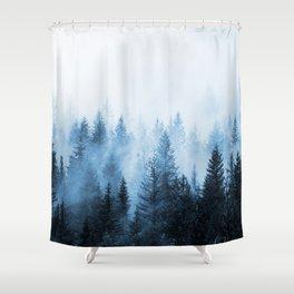 Misty Winter Forest Shower Curtain
