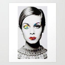 Twiggy Pop Art Art Print