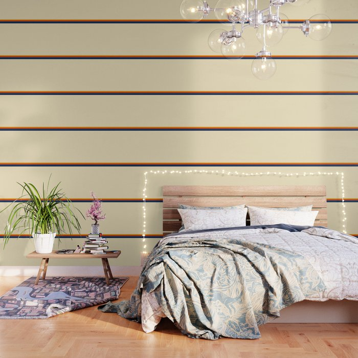 Retro Stripes Summer of Love Wallpaper