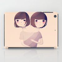 sisters iPad Cases featuring Sisters by Nan Lawson
