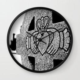Winter Claddagh Wall Clock