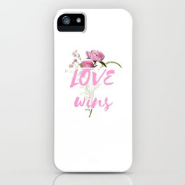 Love Wins - Cool Flower Design iPhone Case