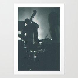Jazz Bassist and Drummer Art Print