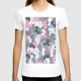 Stone Wall Drawing #2 Pink T-shirt
