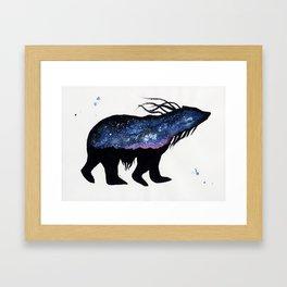Milky Way Bear Framed Art Print