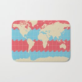 World Traveler Colorful Map of the Earth Bath Mat