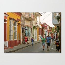 Streets of Cartagena Canvas Print