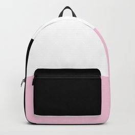 Black White Pink Color Blocks Backpack