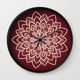 Autumn flower design Wall Clock
