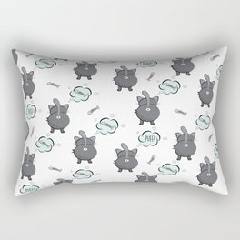 Cat fart Rectangular Pillow