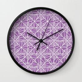 Spiderweb Pattern in Purple Wall Clock