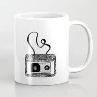 cassette Mugs featuring Cassette by Virki