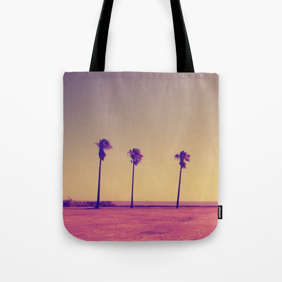 Four Palms In Paradise Tote Bag