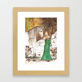Yule Blessings Framed Art Print