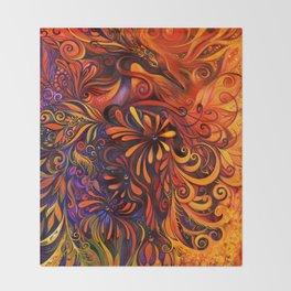 Phoenix by Laura Zollar Throw Blanket
