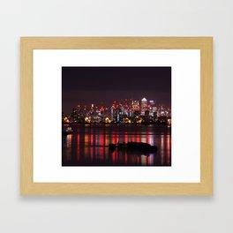 Lights on Thames Framed Art Print