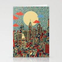 philadelphia Stationery Cards featuring philadelphia by Bekim ART