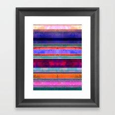 Serape Stripe Mexicali Framed Art Print