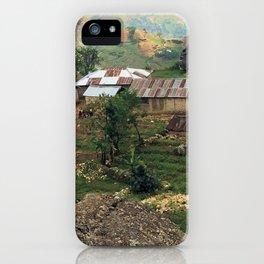 A Haitian Mountain Town iPhone Case