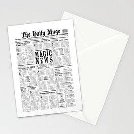The Daily Mage Fantasy Newspaper Stationery Cards