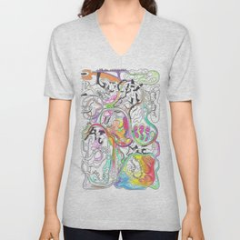 In Two Minds 2  Unisex V-Neck