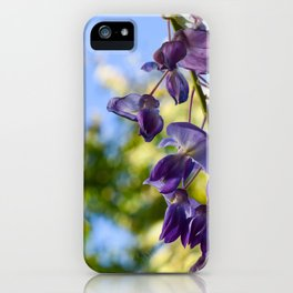Blooming purple acacia iPhone Case