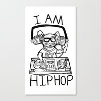 hiphop Canvas Prints featuring I AM HIPHOP  by Geryes