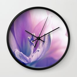 Soft beauty amarillys Wall Clock