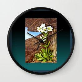 High Country Gentian Flower Wall Clock
