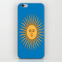 argentina iPhone & iPod Skins featuring argentina flag sun by ArtSchool