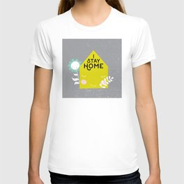 Stay home illustration T-shirt