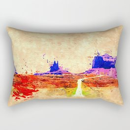 Grand Canyon Grunge Rectangular Pillow