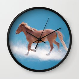 Walking on clouds over the blue sky - version #decor #society6 #buyart Wall Clock