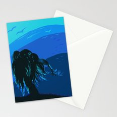The tree blows at night Stationery Cards