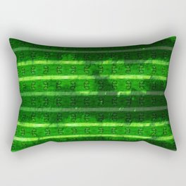 Metal Watermelon Rind Rectangular Pillow