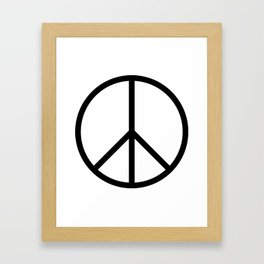 CND Peace Symbol Framed Art Print