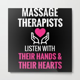 Massage Therapist Gifts For Women Massage Therapy Metal Print