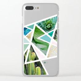 Triangular nature Clear iPhone Case