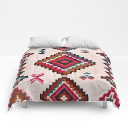 Colored Traditional Oriental Moroccan Antique Artwork (N22) Comforters