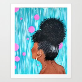 Pink and Bubbly Art Print