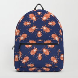 Copper Beetle on Navy Background Backpack