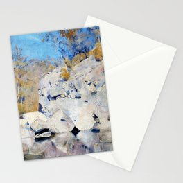 In A Corner On The Macintyre - Tom Roberts Stationery Cards