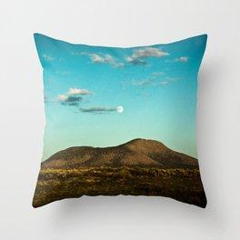MOON OVER SOCORRO Throw Pillow