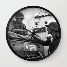 General Patton In Sicily Wall Clock