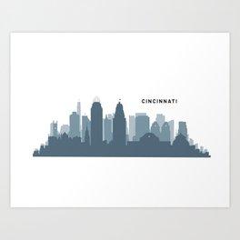 Queen City Skyline Art Print