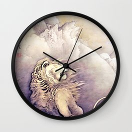 Kano Hogai - Top Quality Art - LION Wall Clock